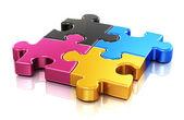 CMYK puzzle — Stock Photo