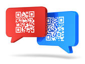 QR code communication concept — Stock Photo