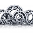 Stock Photo: Collection of ball bearings