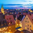 Evening panorama of Nuremberg, Germany — Stock Photo