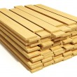 Stacked wooden planks — Stock Photo