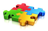 Color puzzle pieces — Stock Photo