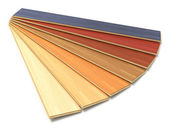 Set of color wooden laminated construction planks — Stock Photo
