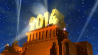 Concept de la nouvelle année 2014 — Vidéo