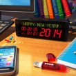 Stock Photo: New Year 2014 concept