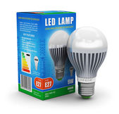 LED lamp with package box — Stock Photo