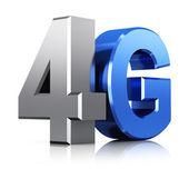 4G LTE wireless technology logo — Stock Photo
