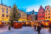 Kerstmarkt in stockholm, Zweden — Stockfoto