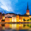 Evening scenery of Stockholm, Sweden — Foto de Stock