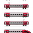 Modern high speed train set — Stock Photo