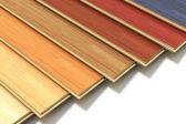 Zestaw kolor deski drewniane laminowane budowlane — Zdjęcie stockowe