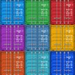 Color cargo containers — Stock Photo #34111353