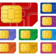 sim cards — Stock Vector