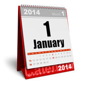 January 2014 calendar — Stock Photo