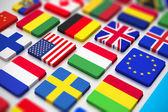 Flaggor tangentbord — Stockfoto