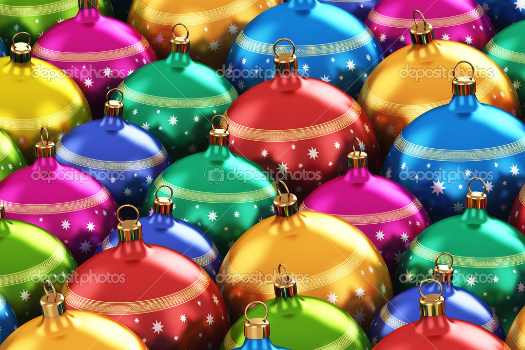 Color Christmas Balls Stock Photo Scanrail 34608045