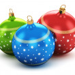 Color Christmas balls — Stock Photo #34887427