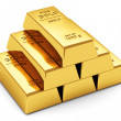 Gold ingots — Foto Stock