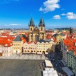 Panorama of the Old Town Square in Prague, Czech Republic — Stok fotoğraf