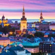 Evening scenery of Tallinn, Estonia — Stock Photo