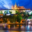 Night scenery of Prague, Czech Republic — Stock Photo