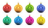 Set of color Christmas balls — Stock Photo