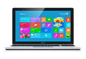 Moderne laptop — Stockfoto
