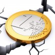 Crisis in European Union concept — Stock Photo
