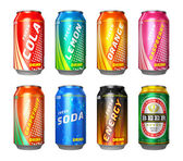 Set of drink cans — Stock Photo