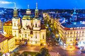 Evening Prague, Czech Republic — Stock Photo