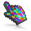 Colorful link selection cursor — Stock Photo #38673411