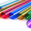 Color acrylic plastic tubes — Stock Photo #38673415