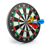 Dartboard with arrows — Stock Photo