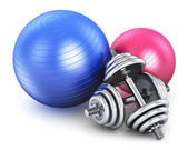 Fitness and sports equipment — Stock Photo