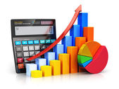 Financial success and accounting concept — Stockfoto