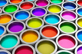 Color paint cans — Stock Photo
