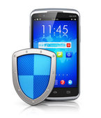 Mobile security and data protection concept — Stock Photo