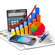 Financial statistics and accounting concept — Stock Photo #39675571