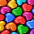 Color hearts — Stockfoto