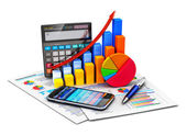 Financial statistics and accounting concept — Stock Photo