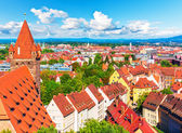 Aerial panorama of Nuremberg, Germany — Stock Photo