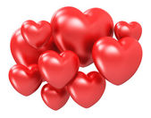 Red hearts — Stockfoto