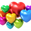 Color hearts — Stock Photo #40429733