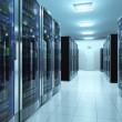 Server room in datacenter — Stock Photo