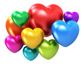 Color hearts — Stock Photo