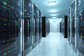 Server room in datacenter — Stock Photo