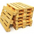 Stack of wooden shipping pallets — Stock Photo #40742279