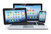 Ноутбук, PC таблетки и смартфон — Стоковое фото