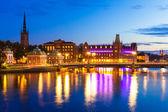 Evening scenery of Stockholm, Sweden — Stock Photo