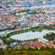 Aerial panorama of Bergen, Norway — Stock Photo #4380177
